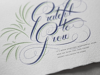 Sabal Trust Christmas Card Lettering