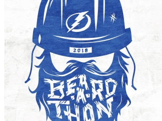 Beard-A-Thon Lettering for the Stanely Cup Playoffs